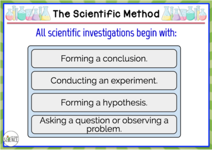 40 Boom Cards to assess students understanding the elements of scientific method and their ability to apply that knowledge to solve problems.