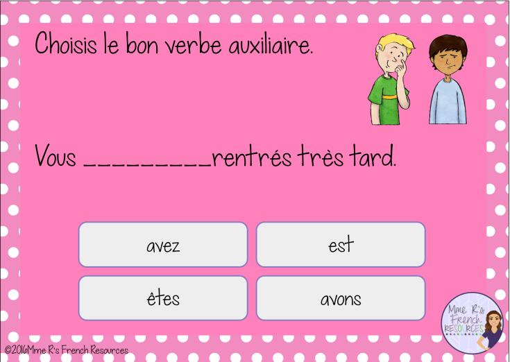 French avoir or être - passé composé