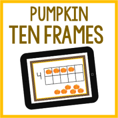 Pumpkin Ten Frames by Jennifer K Oglesby